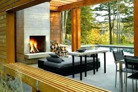 concrete outdoor fireplace modern ideas the eye catcher in kits diy mo