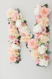 diy flower letter