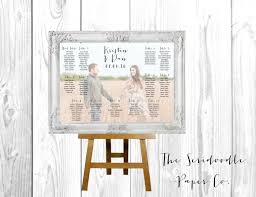 Free Digital Seating Chart Photo Wedding Seating Chart Sign Custom Photo Design