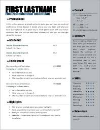 Download Resume Templates Word Free Resume Template Download Microsoft Word