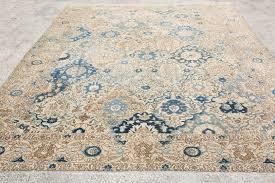 beige blue rug 8 8 x11 4 feet