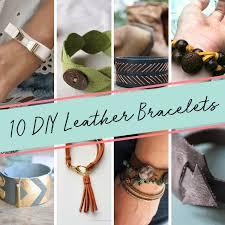 10 easy tutorials to craft diy leather bracelets