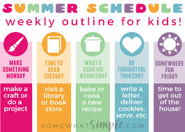 Make A Time Schedule Summer Schedule For Kids Free Printable Somewhat Simple