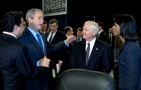u s department of defense photo essay president george w bush talks defense secretary robert m gates and secretary of