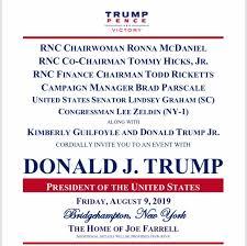 Political Fundraising Invitations Trump 2020 Democrats Race For Hampton Fundraisers In Hunt