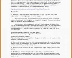 Do You Need Objective On Resume 10 List Of Objective For Resume Payment Format