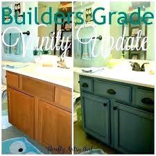 cost to replace bathroom vanity vanities install sink a builders grade repair