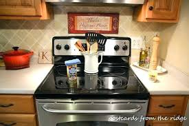glass top stove with vinegar and baking soda clean