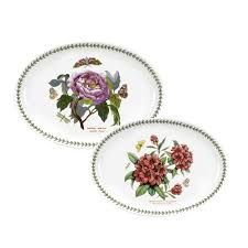 portmeirion botanic garden set of 2 platters