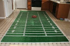 chica and joe football field rug