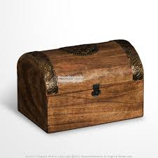 meval style wooden treasure chest jewelry trinket box with brass decoration