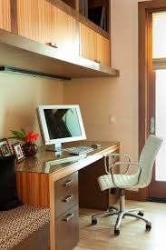 small wood chair huntington beach contemporary home office idea with a built in desk built in desks for home office