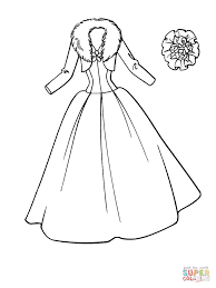 Small Picture Winter Wedding Dress coloring page Free Printable Coloring Pages