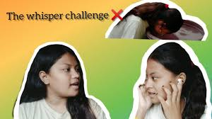 The Whisper Challenge😂 ||with my sister(Aarati Chaudhary)|| Sunita  Chaudhary - YouTube