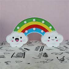 Smile Face Cloud Rainbow Led Night Light Cartoon Night Lamp Baby