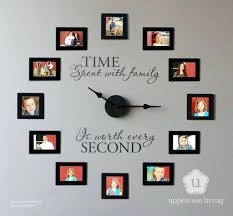 diy wall clock with picture frames creative photo frame display ideas photo wall diy wall clock