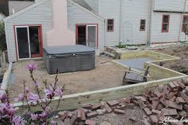 build a wood retaining wall sunken patio reveal