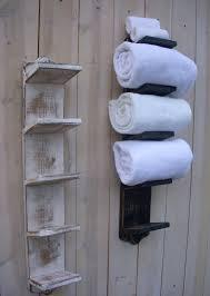 Handmade Bathroom Accessories Handmade Towel Holder Rack Bath Decor Wood Shabby