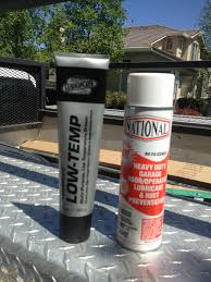 national heavy duty garage door lubricant and lubriplate white litium based grease