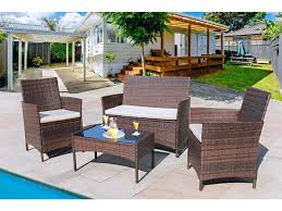 homall 4 pieces outdoor patio furniture