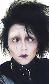 edward scissorhands plete make up set includes 1x white foundation 1x face