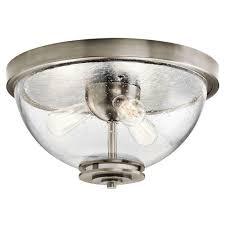 Kichler Lighting Flush Pewter Classic Light Mount Silberne