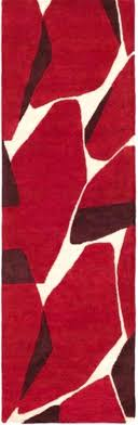 red throw rugs x 8 shattered pieces crimson red and khaki brown hand tufted area throw
