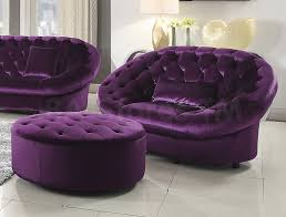 rom chair and ottoman set purple