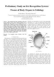Iridology Chart Pdf Pdf Preliminary Study On Iris Recognition System Tissues