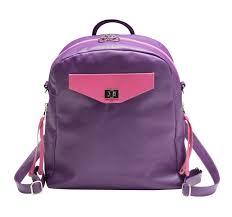 three way purple leather shoulder bag