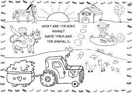 Farm Coloring Pages For Preschool Farm Animals Coloring Pages For