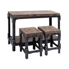 Industrial Pub Table Sets Rectangle Pub Tables Bistro Sets Youll Love Wayfair