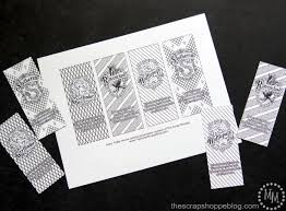 Harry Potter House Coloring Bookmarks - The Scrap Shoppe