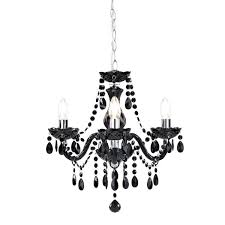 marie therese chandelier black 3 arm