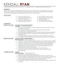 Free Sample Resume For Customer Service Magnificent Customer Service Delectable Customer Service Representative Resume Sample