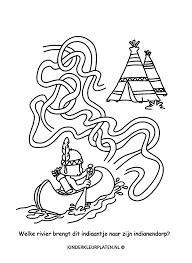 Kleurplaat Kajak Rafting Tipi Spelletjes