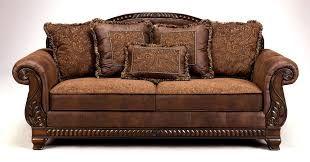 leather and wood sofa. Couch, Couches Traditional Brown Leather With Rectangle Shape Modern Design Of Wooden Frame Carved And Wood Sofa