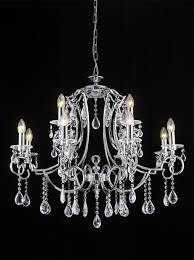 fl2330 12 cinzia 12 light chandelier chrome and crystal