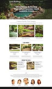 Small Picture Garden Design Responsive Website Template 52638