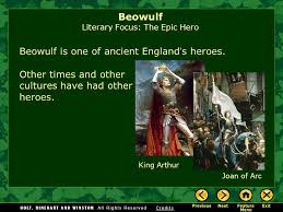beowulf introducing the epic literary focus the epic hero ppt  9 beowulf