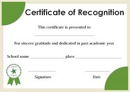 Certificate Of Honor Template Certificates Of Recognition Templates Certificates Of