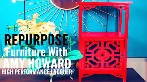 paint lacquer furniture. How To Repurpose Furniture With Amy Howard Lacquer Spray Paint | Ep: 14 Woop! - YouTube