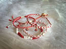 a greek tradition wearing a red and white bracelet through the whole march called martis in order not to get sun burned march bracelets Μάρτης