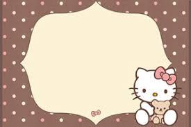 Hello Kitty Invitation Printable Hello Kitty Printable Birthday Invitations Printable Treats Com
