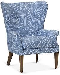 blue wingback chair. Emilia Wingback Chair - Royal Blue Robin Bruce