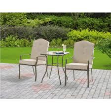 crossman piece outdoor bistro: mainstays warner heights  piece outdoor bistro set tan seats  walmartcom
