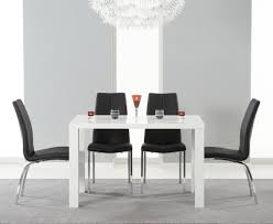 oslo 120cm oak stowaway dining table with cream chairs the great and