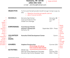 Resume For High School Student Worksheet Students Activities Middle