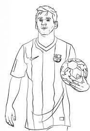 Lionel Messi Kleurplaat Gratis Kleurplaten Printen