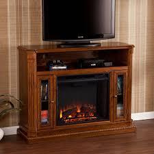 Candard Media Console Fireplace  Rich Brown Oak  Samu0027s ClubSams Club Fireplace